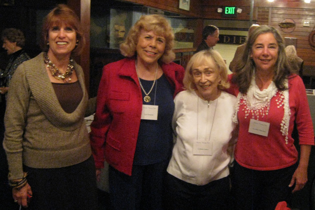 December meeting speaker Cynthia Reed, pictured at left, talked about her climb of Mt. Kilimanjaro. She's pictured with Lee Essayan, Colleen Lance and Cindi Marques.