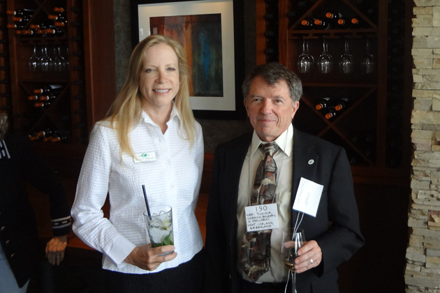 Board Member JoAnn Schwartz is pictured with San Diego Area Coordinator Jeff Ward at the June TCC lunch in Santa Monica.