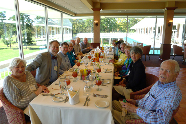 Arkansas members and guests enjoying a November 2013 luncheon  at the Pleasant Valley Country Club.