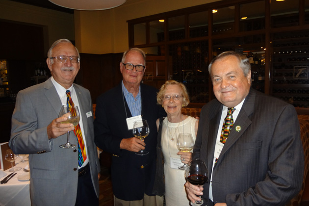 Left to right: Board Member Ron Endeman, Noel and Katherine Jones, and Board Member Kevin Hughes.