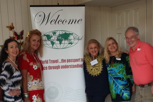 Laurie Kaufman, Southeast Florida Coordinator Jan Novar, Hostess barbara Stein, Marlene Soloman and Host Ted Cookson at the December 2013 gathering of Miami-area TCC members