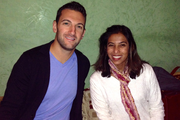 Anthony Slotkin and Rakhi Datta are enjoying the January 11 New York chapter luncheon at the Arabesque restaurant.