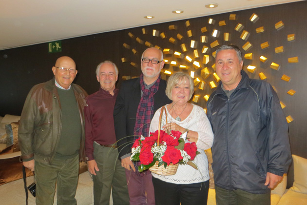 TCC President Michael Sholer and his wife, Carol, recently met with a group of international members in Barcelona, Spain. Pictured from left to right are Juan Pons, Michael Sholer, Martin Garrido, Carol Sholer and Jorge Sanchez.
