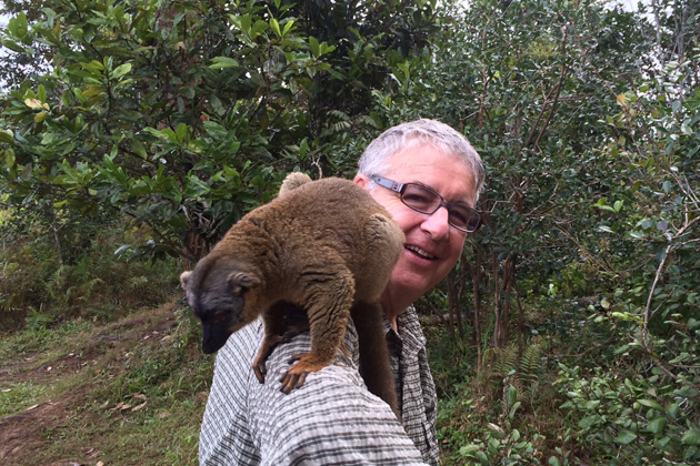 Arizona Chapter Coordinator Matt Cohen with a new friend he made during a recent photo tour of Madagascar