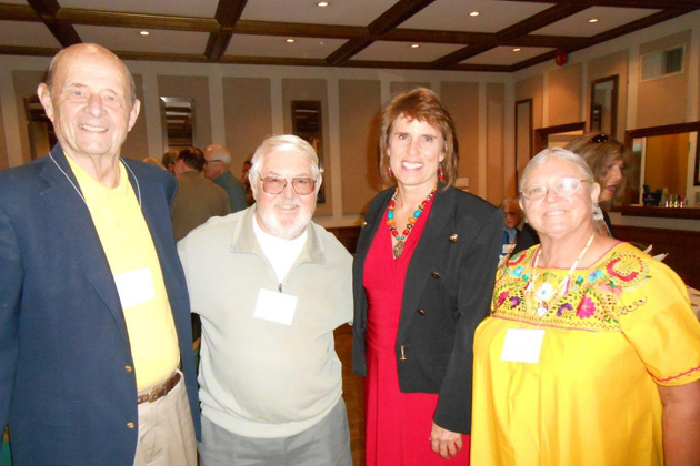 Pictured at NorCal's September luncheon: Area Coordinator Tim Carlson, David Steffes, Speaker Cynthia Reed and Patra Steffes.