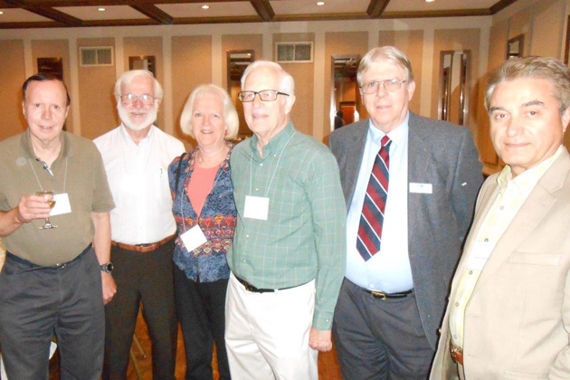 At the San Francisco September meeting: Fred Omenzetter, Frank Rainer, Janet and Jim Holl, TCC Secretary Sanford Smith and Farhad Kashani.