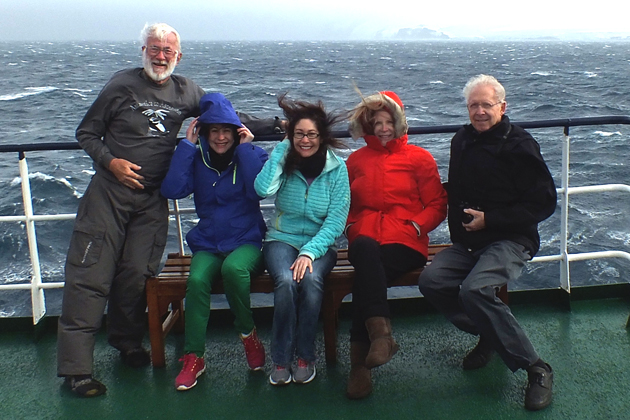 NorCal TCC members on a windy day: Frank Rainer, Michelle and Wendy Arbeit, JoAnn Schwartz and Don Fillman.