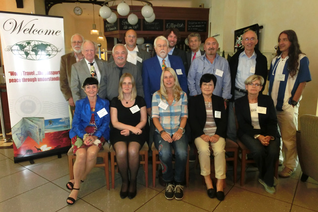 The September 2015 TCC gathering in Düsseldorf. Front row, left to right: Dr. Gisela Oittner, Katja Kirste,Amja Schreiner, Young Sook Goebels and Angela Baer; middle row: Dr. Rudolf Oittner, Hubert Dahl, Chapter Coordinator Herbert Goebels, Reinhold Baer, Helmut Lent and Thomas Straub; back row: Willy Schreiner, Armin Schreiner, Jan Cassalette4 and Volker Klein; not pictured: Uwe Bussman