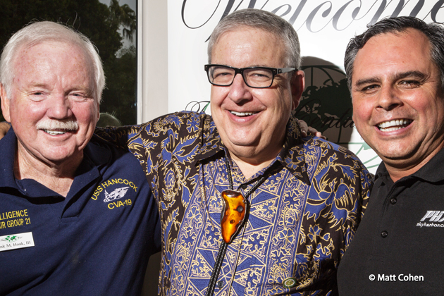 Speaker Greg Montes, at right, with Frank Hoak and Coordinator Matt Cohen at the October Phoenix meeting.