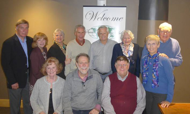 The November 2015 meeting in Little Rock: Front rowe, left to right: Judith Henderson McClelland, Dr. Steven Clift and Charles Merkel. Back row, left to right: Dr. Gil Caver, Linda Bell, Sandi Lubin, Aaron Lubin, Bill Henderson, Carolyn Oudin, Cora Lee Brannon and Dick Brannon. Not pictured: Marc Oudin