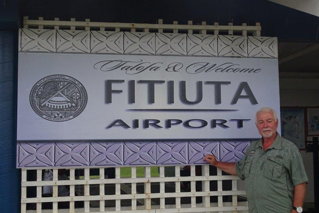 Charalampos Bizas from Athens finally reached the Tokelau islands in October, his third attempt, which now leaves only three destination to visit to complete the TCC List — Wake Island, BIOT and Midway. He traveled to many unique destinations every month in 2015. Here he is pictured at the Fitiuta airport on the rarely-visited Tau island in American Samoa.