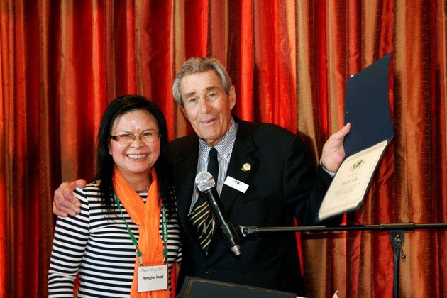 Hongyu Yang from Washington, DC, received a certificate from TCC Chairman Klaus Billep at the March luncheon in Newport Beach, for traveling to 250 destinations. By the time she picked up this certificate her country total was 278 and she expects to reach the 300 level by year end, with all 325 countries by the end of 2018.