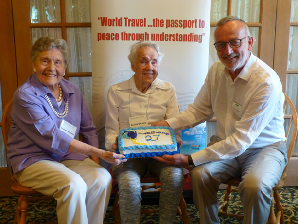remaining charter members holding the cake Charters members of the Colorado TCC chapter (left to right): Darlene Jamison, Bonnie O'Leary and David Van Treuren