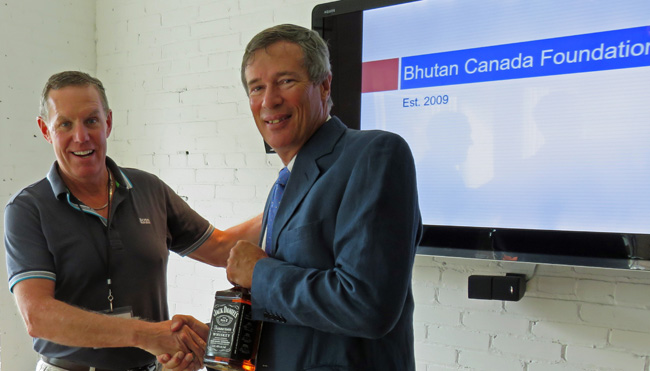 Guest speaker Sam Blyth, Chairman of the Bhutan Canada Foundation and Honorary Consul of Bhutan to Canada