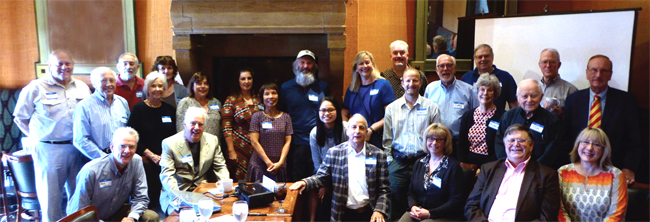 Approximately 30 travelers gathered in Kansas City, Missouri, to discuss their latest trips.
