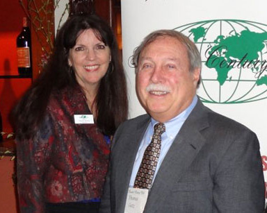 TCC President Pamela Barrus with Tom Getz, who will deliver a presentation about the Western Balkans at the June 2013 luncheon in Santa Monica.