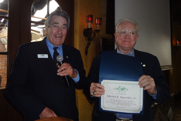 New TCC member Ed Reynolds also received a Platinum level certificate at the meeting in Santa Monica.