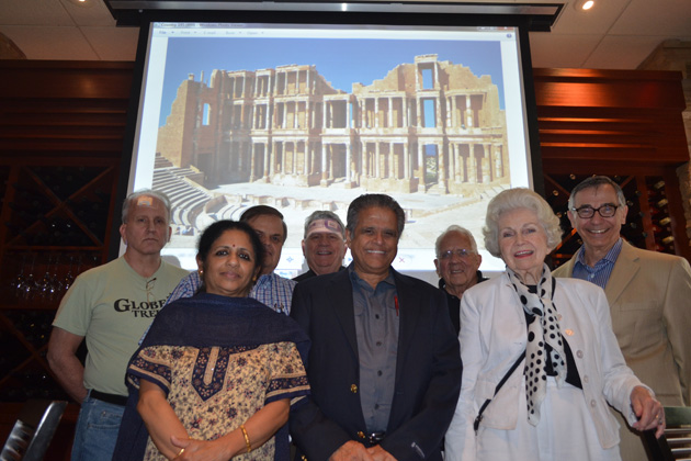 Indiana members gathered in June 2013. Front row: Kanchana and Ashok Van with Jean Williams. Back row: Gregg Schmidt, John Shaffner, Tom McAllister, Chuck Williams and Indiana Chapter Coordinator Frank Basile.