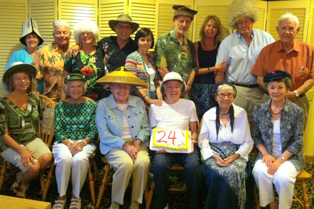 Colorado TCC members gathered in July 2013. Front row, left to right:  Nancy Mikoda, Joan Madrid, Darlene Jamison, Bonnie O'Leary, Del Samac-Townsend and Sandy Dungan.  Back row, left to right: Phyllis McGuire, Bill Fox, Sally Rock, Dale Goin, Barbara Jackson, David Van Treuren, Deanna Quinlan, Patrick Quinlan and Al Brown.