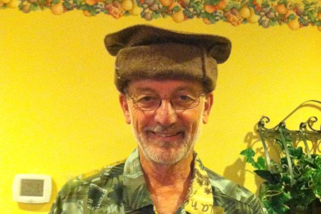 Charter member David Van Treuren wore a Pashtun hat from Afghanistan.