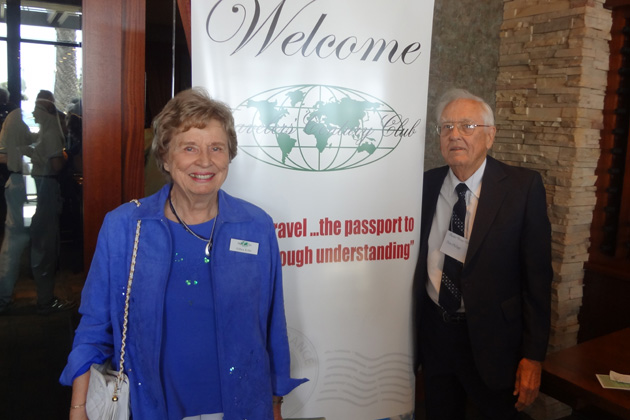 Althea Kifer and Don Phillip enjoy the reception at the June luncheon-meeting at Seasons 52 in Santa Monica.