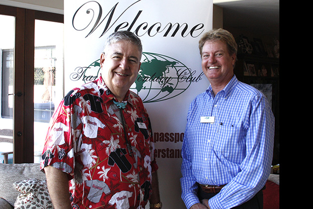 Arizona Chapter Coordinator Matt Cohen, left, with Gregg Sapp, who shared his journey to Mach Picchu.