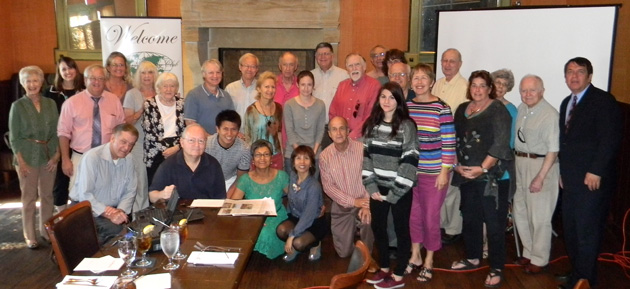 Kansas City-area TCC members at Trezo Mare restaurant in September.