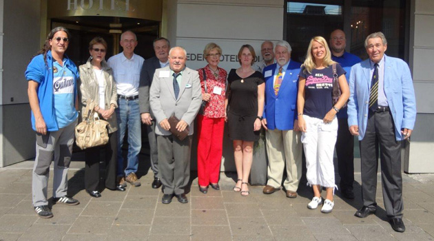 Those attending the Sept 2013 meeting in Munich are pictured in front of the Hotel Eden Wolff.
