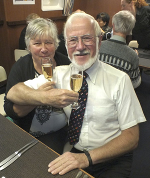 Speakers at the March meeting, Sigrid and Frank Ranier, celebrated their 46th anniversary on their recent voyage on a Russian expedition ship.