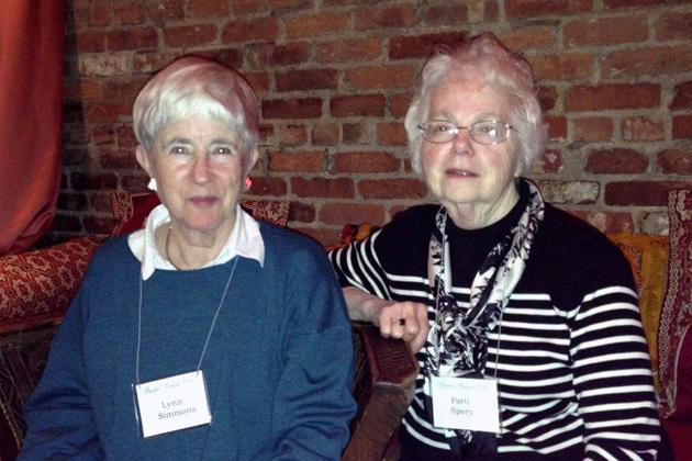 Lynn Simmons with Patri Spory at the January 2014 meeting in New York.