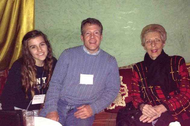 Left to right: Maria Scovel, Scott Sovel and Barbara Wolfe at the January 2014 New York gathering