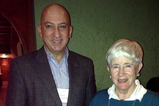 Area Coordinator Lynn Simmons with featured speaker Paul Couniotakis