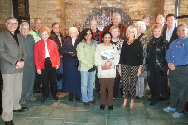A group photo from the December 2013 Indiana chapter meeting.