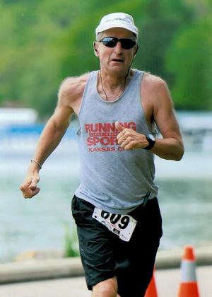 Steve Fuller, Area Coordinator In Kansas City, is pictured running the marathon in Switzerland.
