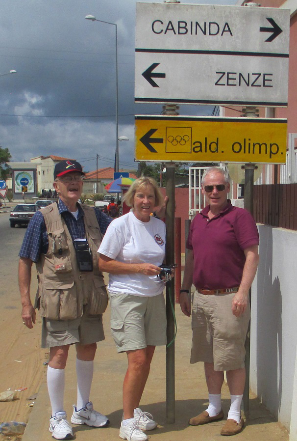 Left to right:  Stephen Warner, Jackie Jerry and Ted Cookson enjoyed their April 2014 tour in Cabinda.