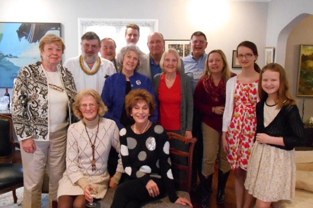 Chicago-area TCC members met on April 5 at the home of Thomas and Ellen Flannigan.
