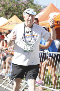 Jay Foonberg of Beverly Hills began running at age 56 and did his first marathon on a bet, which he lost.