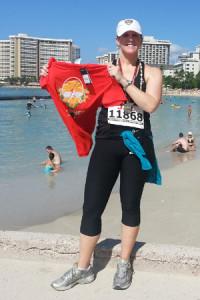 Jenny McIver of Atlanta ran her 14th marathon in 10 years in Honolulu last December.