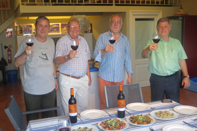 TCC Board Member and Past President Pamela Barrus took this photo during a recent visit with TCC members in Spain. From left to right: Jorge Sanchez, Juan Pons, Martin Garrido, and Frans Lettenstrom