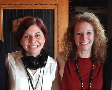Reporter Alana Rinicella, left, with luncheon speaker Elisa Kotin.