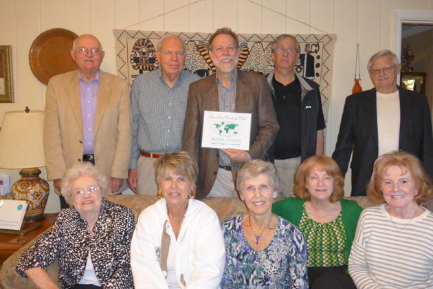 Back row (left to right): Phil Trimble, Dick Brannon, Steven Clift, Alex Pappas, Bill Henderson. Front row (left to right):Dolena Kann, Anna Clift, Cora Brannon, Bell, Judith Henderson-Cleland. Not pictured: Carolyn and Marc Oudin.