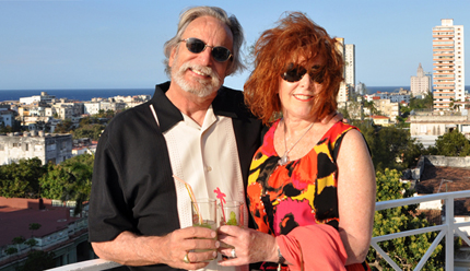 Dennis and Diana Trombley at an artists' reception in Havana in 2013.