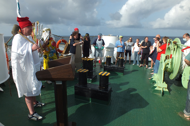 "To reach the final stop in Cape Verde, there was a ""Crossing the Line"" ceremony."