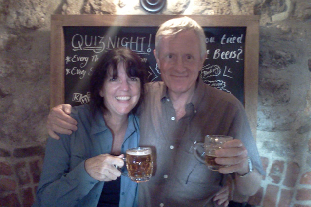 TCC Hong Kong member Rowland Burley joined Pam Barrus in the section of the Thames Path hike from Oxford to Abingdon. They're pictured in an Abingdon pub at the end of their hike. Burley completed his visits to all the TCC destinations in December 2009.