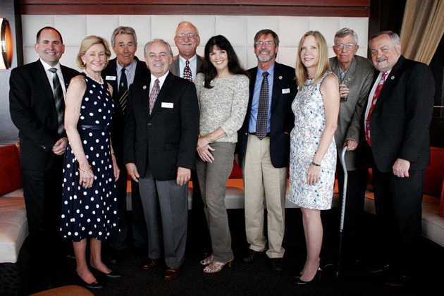 Lineup of the current TCC Officers and Board assembled at the July luncheon in Los Angeles: Tim Skeet, Vice President Gloria McCoy, Chairman Klaus Billep, President Michael Sholer, Ron Endeman, Pam Barrus, Chris Hudson, Treasurer JoAnn Schwartz, David Barry, Kevin Hughes. Not pictured: Secretary Sanford Smith.