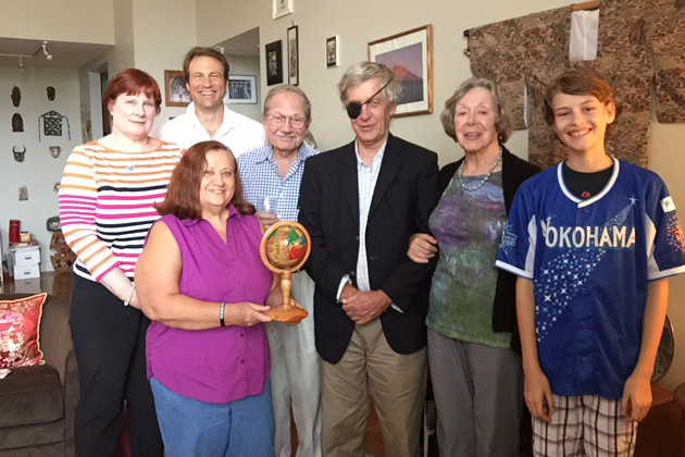 Members attending included (left to right): Deborah Janis, Anush Dawidjan (with Haitian globe), David Santulli (New England Area Coordinator), Harvey Wartosky, Daan Sandee, Noel Mann and future TCC member, 14-year-old Troy Santulli (striving to reach 89 countries by the end of August 2015).