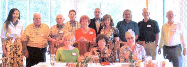 Pictured at the Sarasota, FL, summer meeting are (seated) Royce Haiman, Area Coordinator Lillian O'Leary, Susan Bailey; (standing) Prem Wilson, Ken Chamberlain, Herbert Roessiger, Gary Conroy, Charlene Doll, Larry and Katherine Nutt, John Robinson, Tom Gregory, Neil O'Leary.