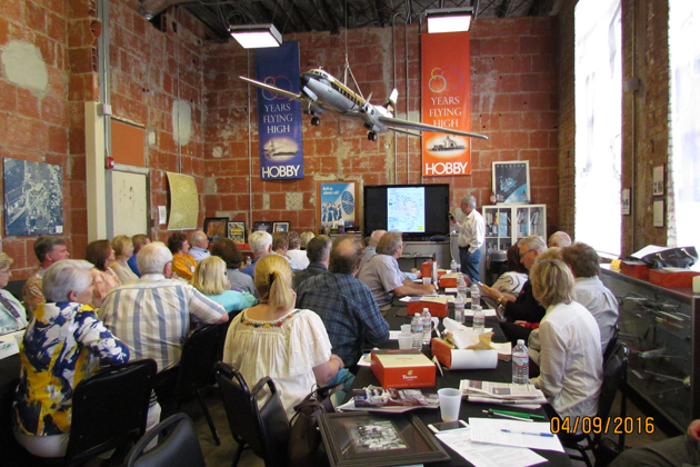 The group enjoyed presentations and exhibits at the 1940 Air Terminal Museum