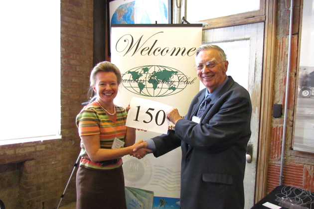 Bill Hintze celebrates 150 countries with Kim-Kay Randt