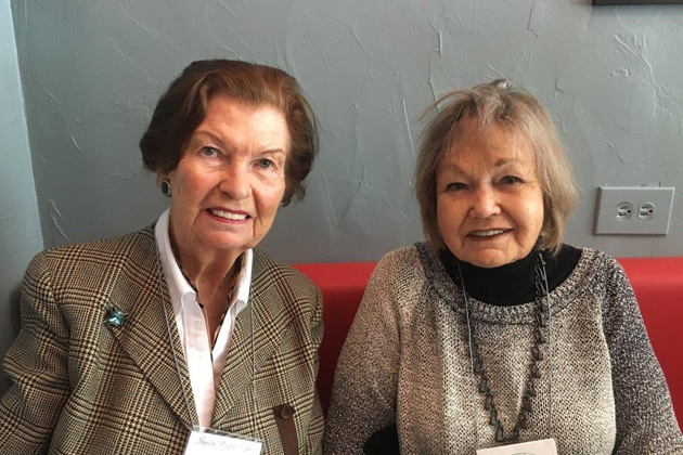Adriana Vink and Doris Chernik at the New York lunch.
